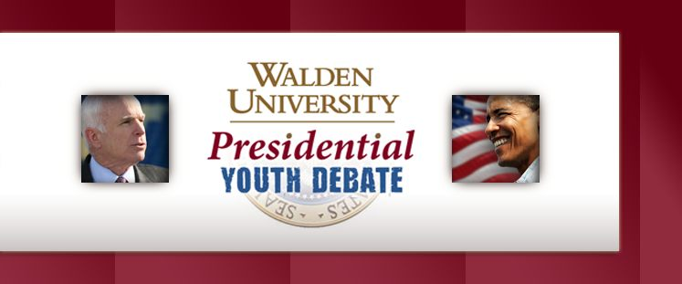 Walden University Presidential Youth Debate